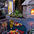 Enjoy dinner outside by a warm outdoor fireplace